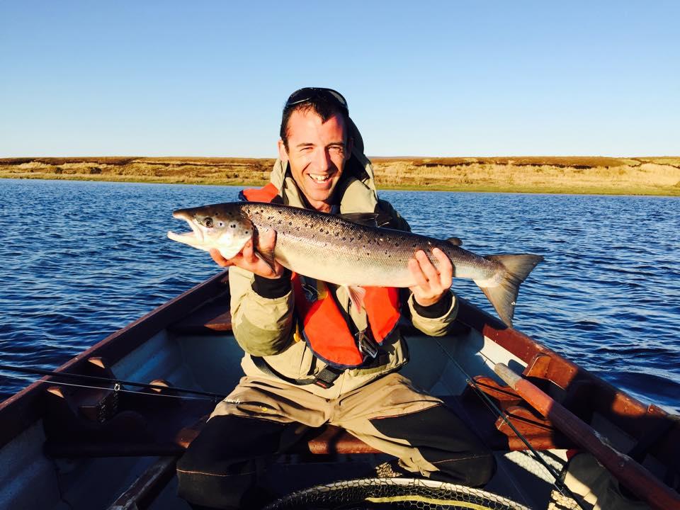 Primo pesce della stagione, 3,2 kg., per Keith McGovern