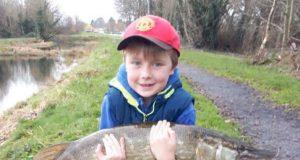 Eoin Conway col luccio di 7,3 kg. dal Grand Canal