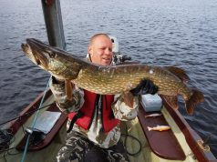 Rene Bieniek con un pesce di 106 cm